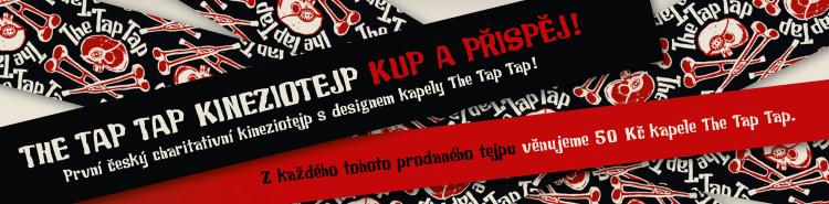 První český charitativní kineziotejp s designem kapely The Tap Tap!